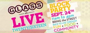 glass street live banner