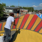 Mural Painting on Glass Street
