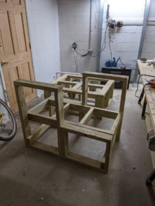 Benches in progress